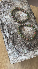 Load and play video in Gallery viewer, Unakite Bead Bracelet