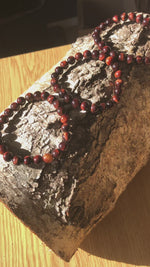 Load and play video in Gallery viewer, Red Tigers Bead Bracelets