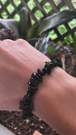 Load and play video in Gallery viewer, Black Obsidian Bracelets