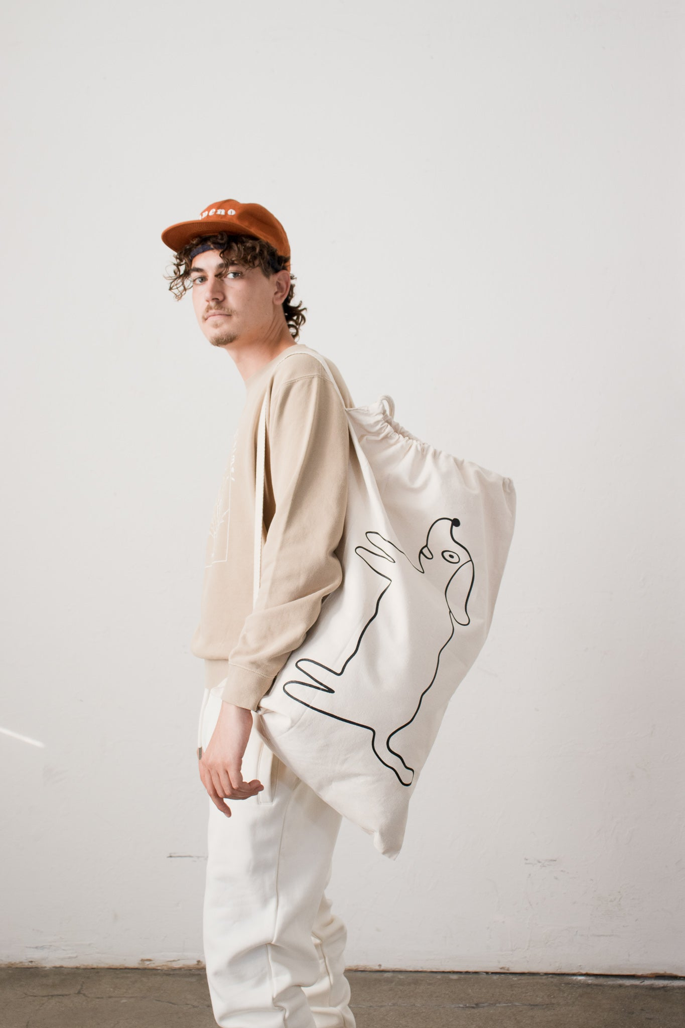 Wavey Dog Cotton All Purpose Bag