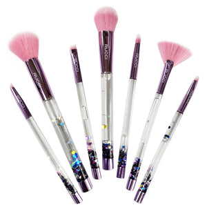 Rucci Glitter Cosmetic Brush Set (7 Brushes) (CC463)
