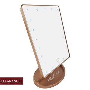 21-LED Mini-Hollywood Lighted Mirror (Rose Gold) Battery Powered 4 x AA