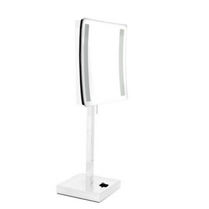 Chrome Led Light Stand Mirror 3X