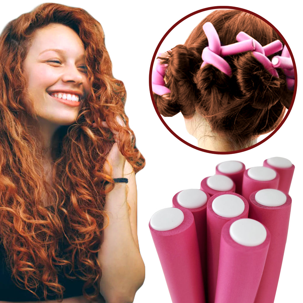 "Rucci Hair Curling Rods 10 Pieces 0.5"" Thick"