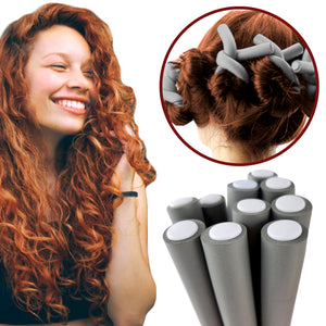 "Rucci Hair Curling Rods 10 Pieces 0.75"" Thick"