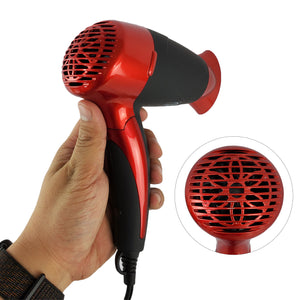 Rucci Salon Pro 1600 Hair Dryer - Portable Red (HD111/R)