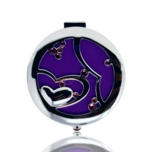INTER-LOCKING HEART COMPACT MIRROR (JP21)