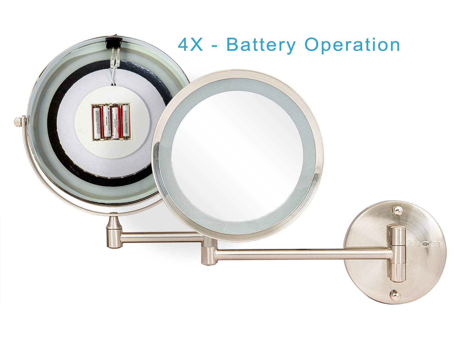 Modern Lighted Magnifying Makeup Mirror