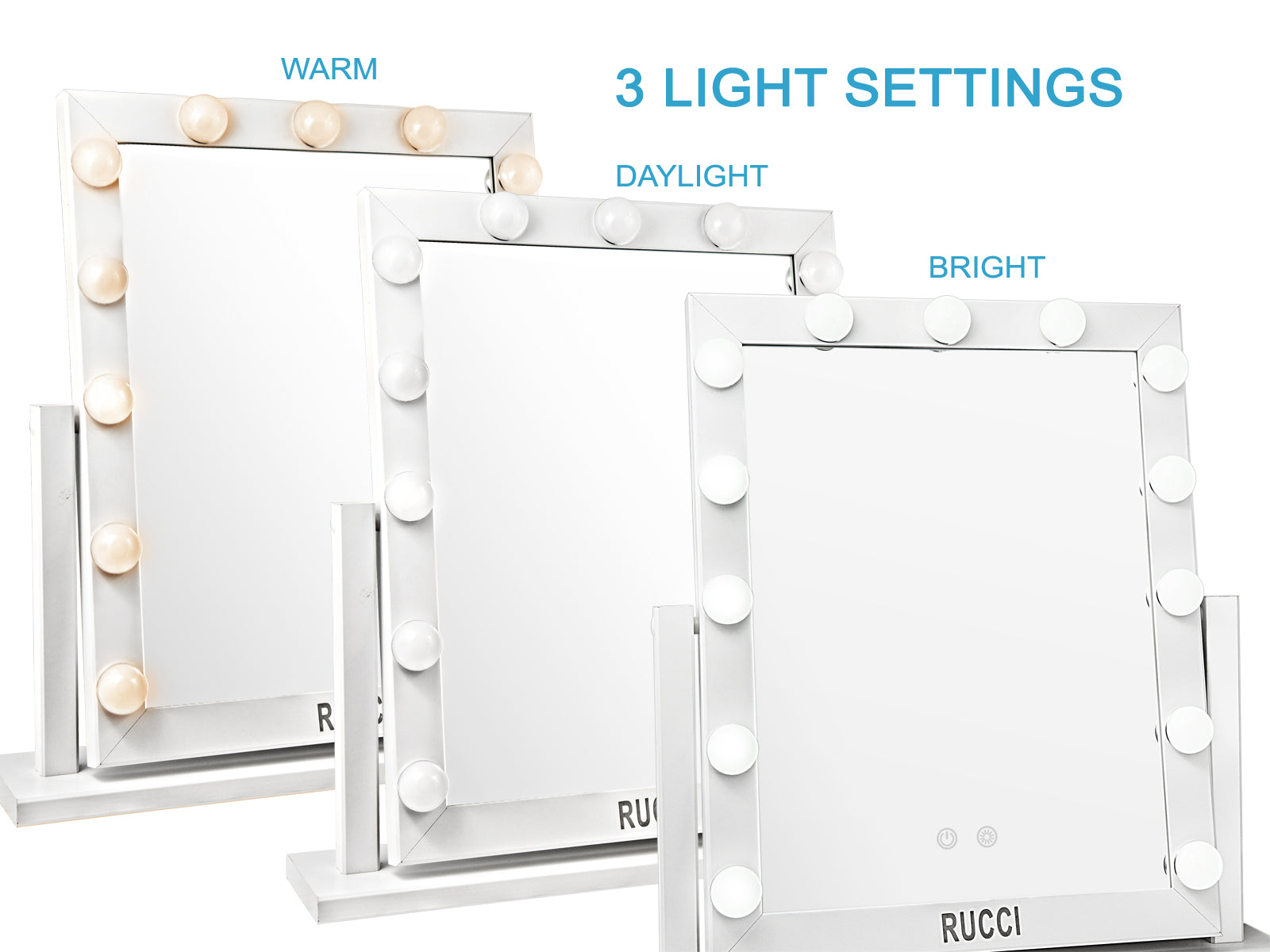 Hollywood Lighted Makeup Mirror