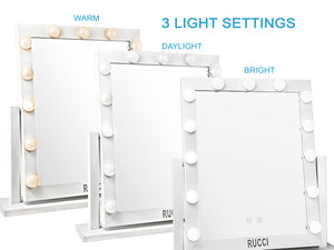 Hollywood Lighted Makeup Mirror (M1004/W)