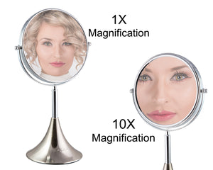 Rucci Swivel Dual Magnifying Makeup Mirror