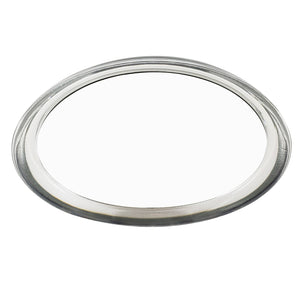 Acrylic Frame Oval Counter-top Magnifying Mirror with Travel Pouch (M882)