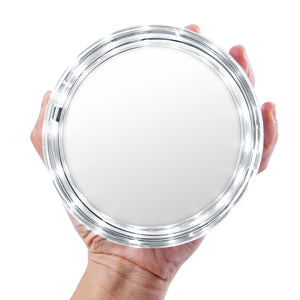 Round LED Make Up Wall Mounted Mirror 10X Magnification