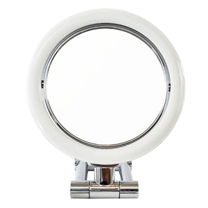 Rucci Chrome Finish Stand Magnifying Mirror with Bright White LED (M896)