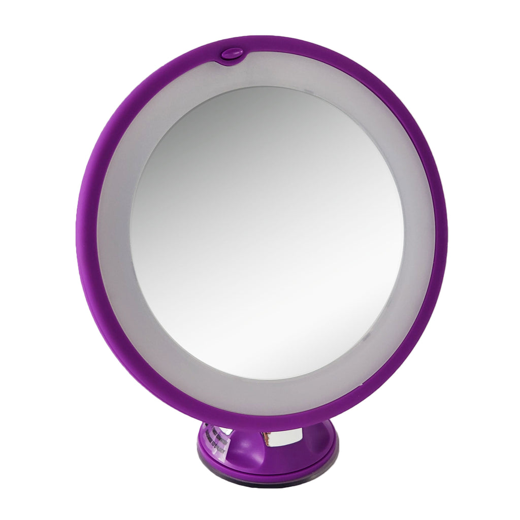 Purple Soft Touch Light Swivel Mirror 10X (M973/PR)