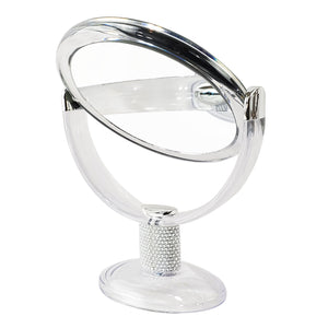 Rucci Soft Touch Vanity Mirror 1x/10x Magnification Crystal Encrusted Neck Design