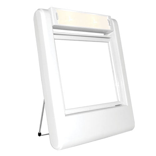 Square Lighted Makeup Stand Mirror 5X Magnification (M979)