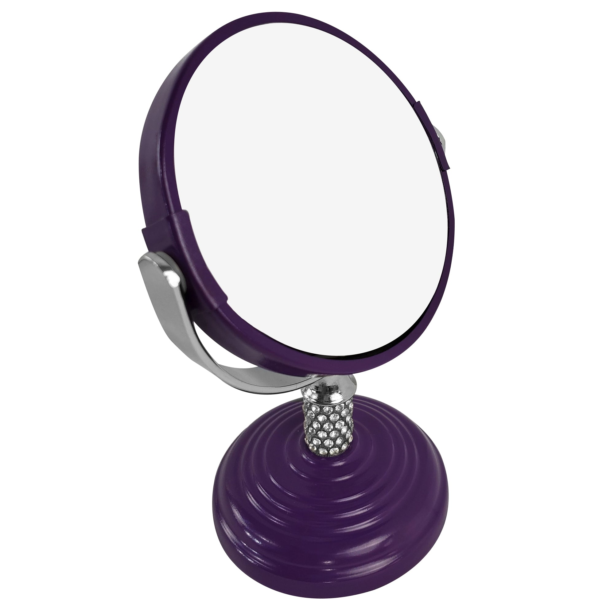 Rucci Mini Soft Touch Vanity Mirror with 4x Magnification Crystal Neck Design