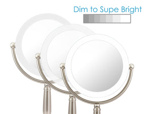 Rucci Lighted Magnifying LED Stand Mirror With 3 Dim Settings (M997)