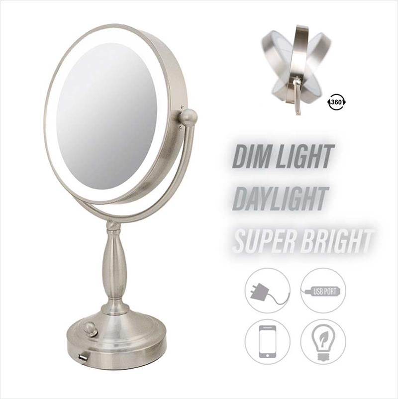 Makeup Vanity LED Magnifying Mirror with Metal Frame (M998)
