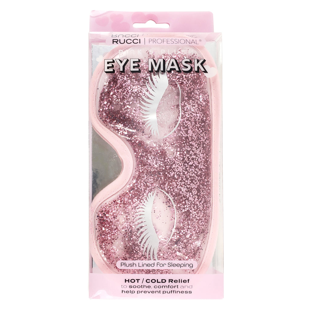 Eyemask With Glitter And Eyelash/Eyebrow Design (RL513)