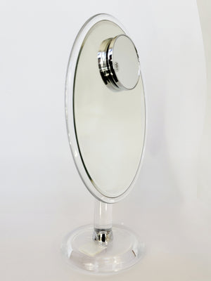 Oval Stand Mirror W/ 10X Magnification Magnetic Insert