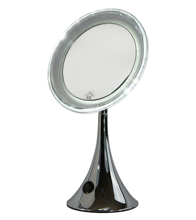 Lighted Vanity Make Up Mirror Metal Trumpet Design (M874)
