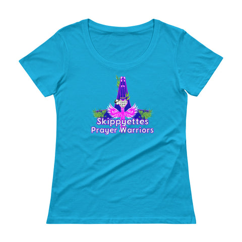 Skippyettes Prayer Warriors Ladies' Scoopneck T-Shirt