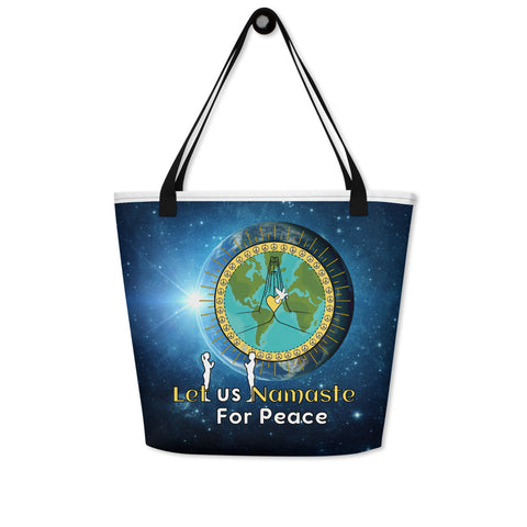 Let us Namaste for Peace Utility Bag