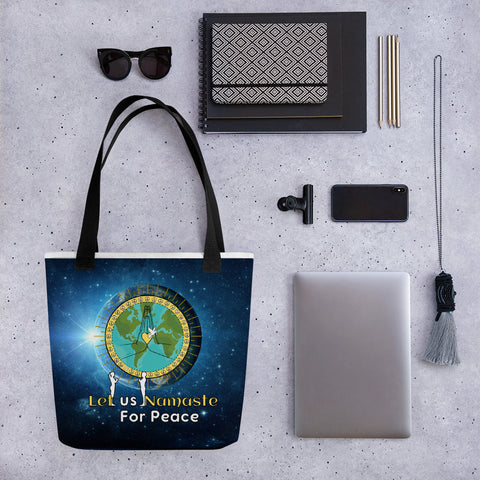Let us Namaste for Peace Tote bag