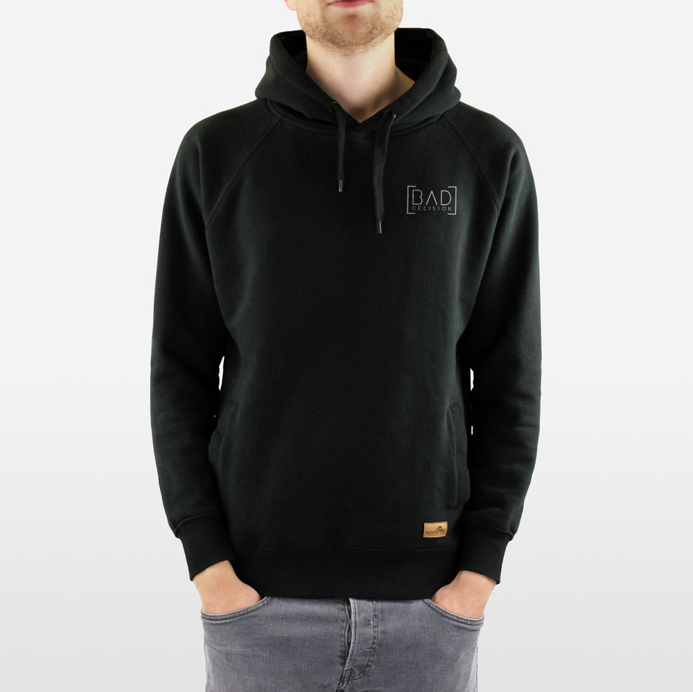 Hoody - BAD DECISION - black