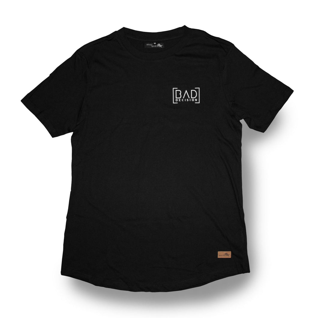 LongTee - BAD DECISION - black