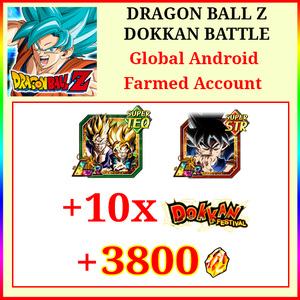 [Global][Android] Dokkan Battle Farmed Account 3800DS💎LR Gobro UI Goku 10 Dokkan Limited