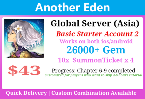 [Global Asia] Another Eden 26000+💎Stater Chapter 6-9