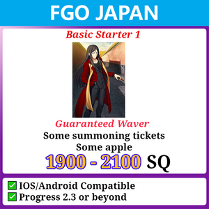 [Japan] Starter Jackpot Account 1900-2100 SQ with Waver