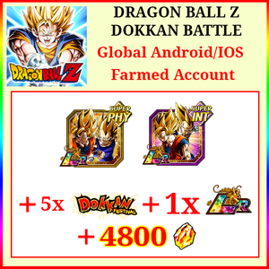 [Global][Android/IOS] Dokkan Battle Farmed Starters with 4800DS LR Goku & Vegeta 1 LR 5 Limited