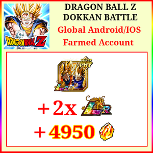 [Global][Android/IOS] Dokkan Battle Farmed Starters with 4950DS LR Goku & Vegeta 2 LR