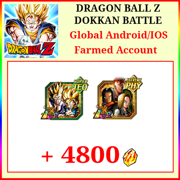 [Global][Android/IOS] Dokkan Battle Farmed Starters with 4800DS LR Gobro Android 51