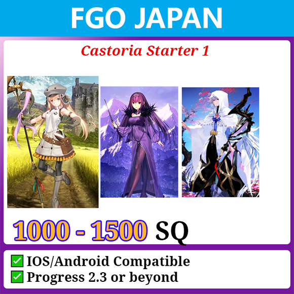 [Japan] Castoria Starter Account 1 1000-1500SQ with Merlin Skadi