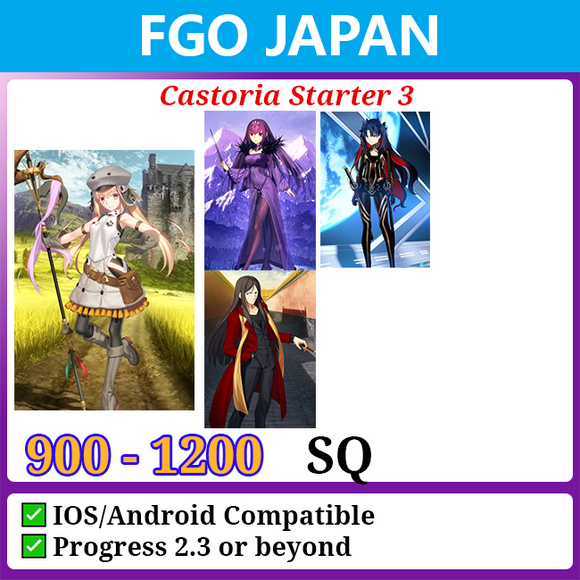 [Japan] Castoria Starter Account 3 900-1200SQ with Space Ishtar Skadi Waver