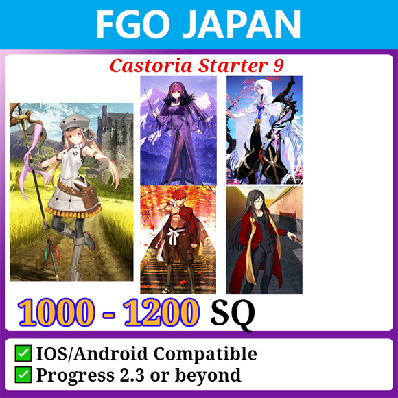 [Japan] Castoria Starter Account 9 1000-1200SQ with Skadi Merlin Waver Muramasa
