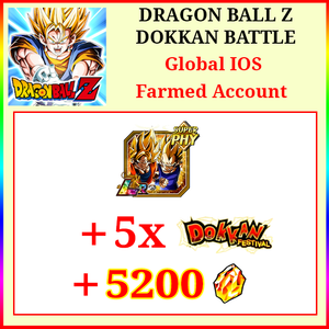 [Global][IOS] Dokkan Battle Farmed Starters with 5200DS LR Goku & Vegeta