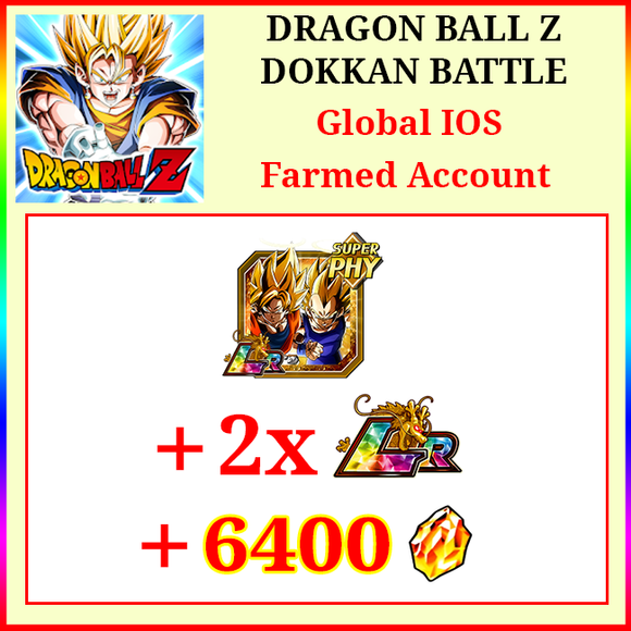 [Global][IOS] Dokkan Battle Farmed Starters with 6400DS LR Goku & Vegeta 2 LR
