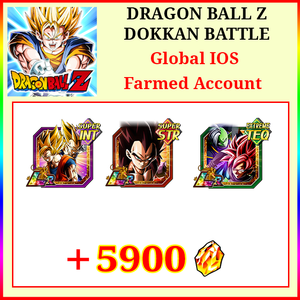 [Global][IOS] Dokkan Battle Farmed Starters with 5900DS LR Goku&Vegeta SS4 Vegeta Goku Black Rose&Zamasu
