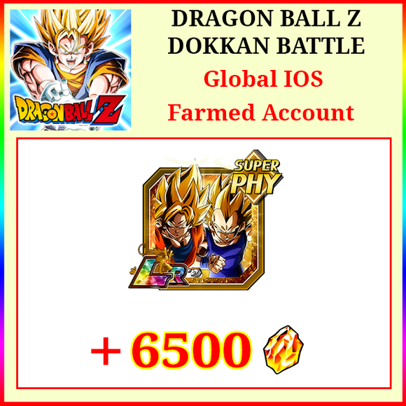 [Global][IOS] Dokkan Battle Farmed Starters with 6500DS LR Goku&Vegeta