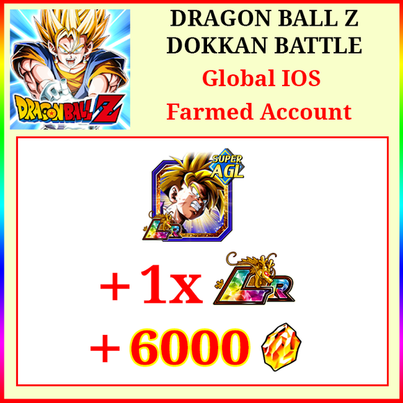 [Global][IOS] Dokkan Battle Farmed Starters with 6000DS LR AGL Gohan