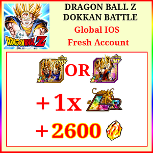 [Global][IOS] Dokkan Battle Fresh Starters with 2600DS💎 Goku & Vegeta + 1 LR
