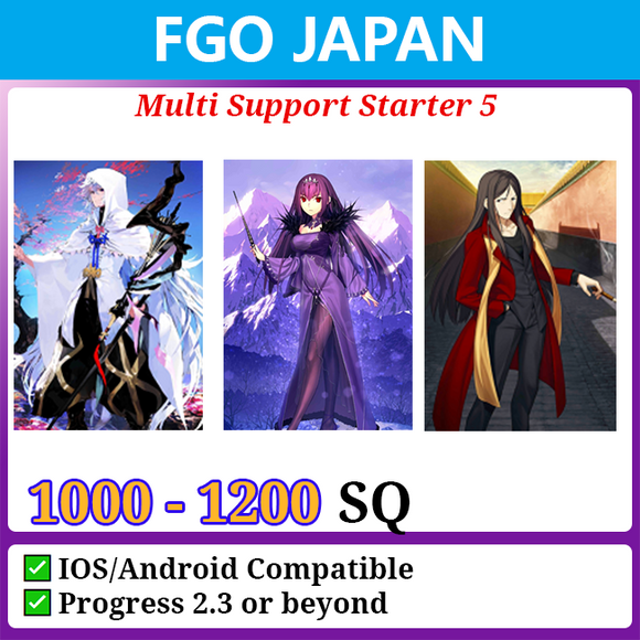 [Japan] Multi Support Starter Account 5 1000-12000SQ Waver Skadi Merlin