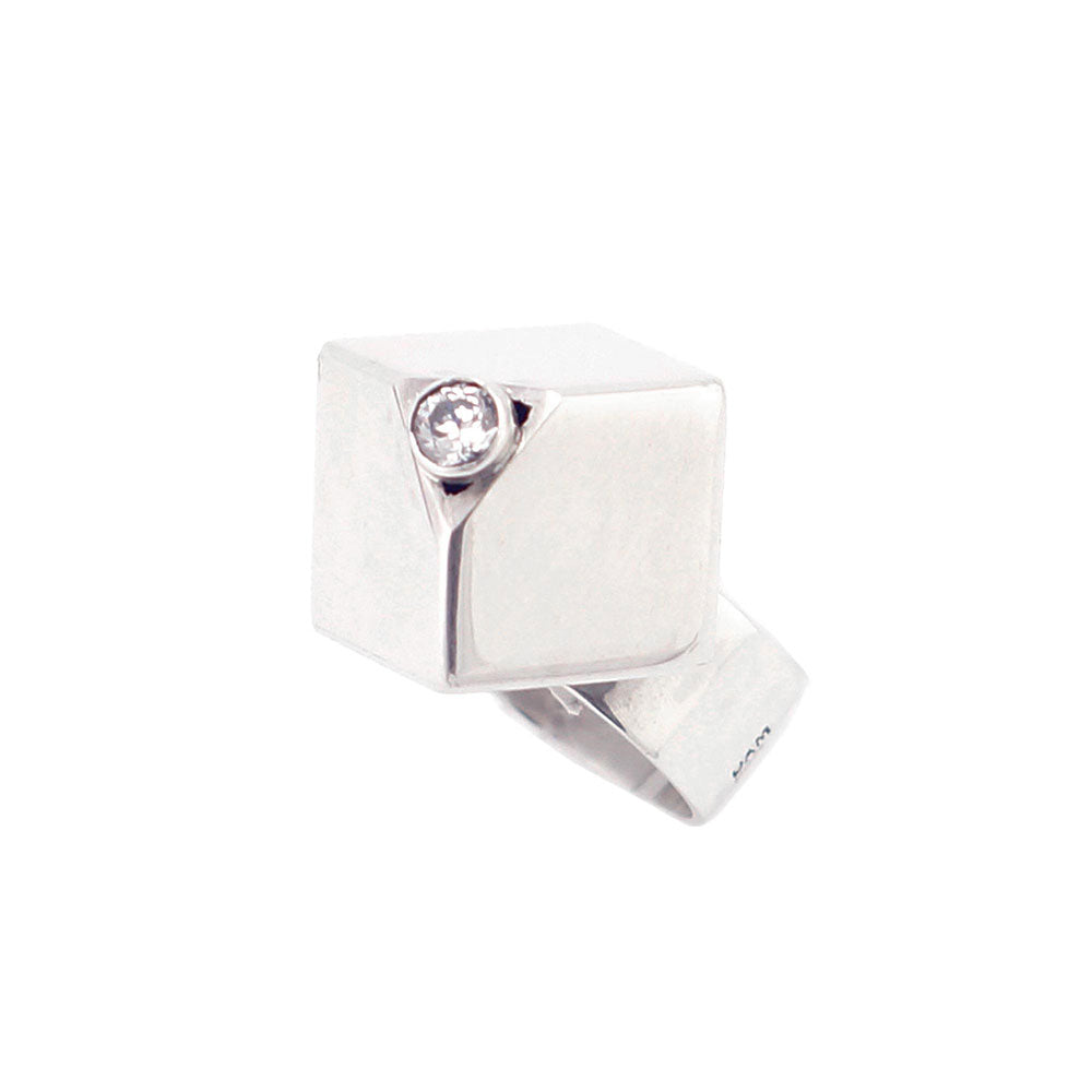 anillo cubo plata | sterling silver cube ring