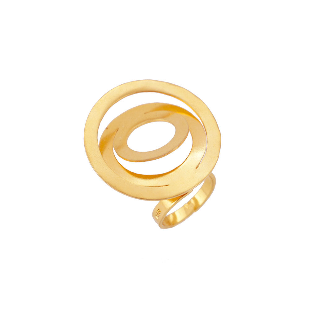 anillo circular con chapa de oro | gold plated circle ring